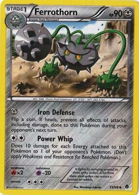 Ferrothorn 73/98 B&W Emerging Powers Uncommon PERFECT MINT! Pokemon