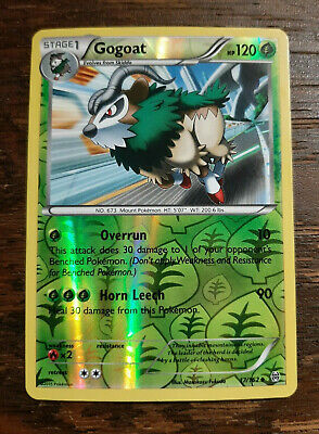 x1 Gogoat 17/162 - XY: Breakthrough Uncommon Reverse Holo Pokemon Card LP