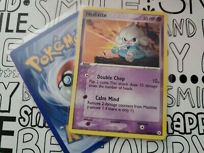 Pokemon MEDITITE 65/101 COMMON LP CARD   HIDDEN LEGENDS