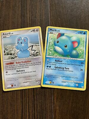 Pokemon Cards-Diamond and Pearl-Azurill and Marill