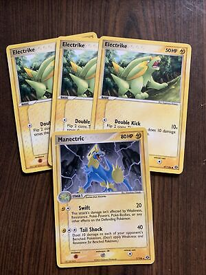 Pokemon Cards-EX Emerald-3 Electrike and 1 Manectric