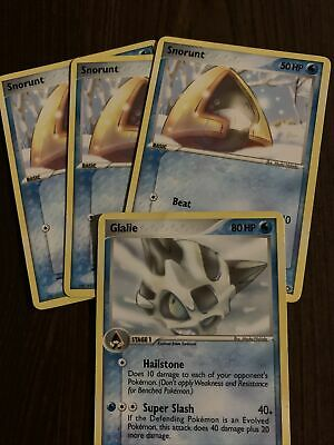 Pokemon Cards-EX Emerald-3 Snorunt and 1 Glalie