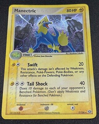 Manectric - 7/106 - Rare Holo - EX Emerald Pokemon Card - Used