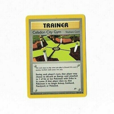 Pokemon Card Trainer Celadon City Gym Heroes 107/132 Excellent To Near Mint