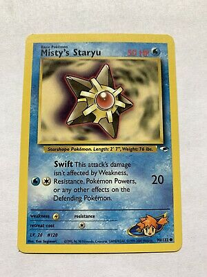MISTY'S STARYU - Gym Heroes Set - 90/132 - Common - Pokemon Card - LP