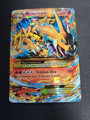 Pokemon 2014 Mega M Charizard EX Flashfire 107/106 Holo Secret Rare LP