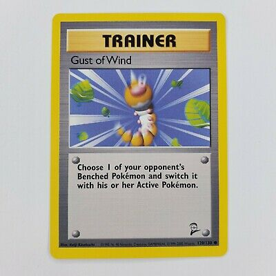 Pokemon Base Set 2 Trainer Gust of Wind NM 120/130 TCG Trading Card Game 2000