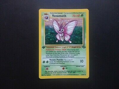1999 Pokemon WOTC Jungle 1st Edition 13/64 Venomoth Holo