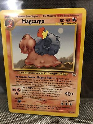 MAGCARGO 33/64 Pokemon Card - Neo Revelation Uncommon 2000