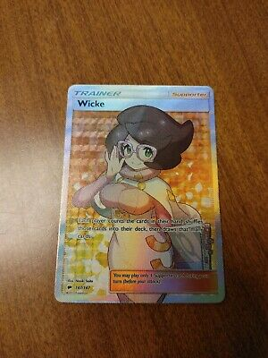 Pokemon Wicke Trainer Full Art Burning Shadows 147/147 Ultra Rare - Pack Fresh!