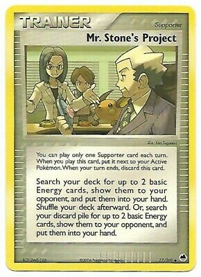 Pokemon Uncommon Trainer Card : Mr Stone's Project 76/101 (Ex Dragon Frontiers)
