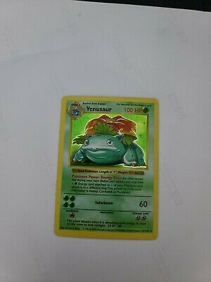 Pokemon Base Set Shadowless Venusaur EXCELLENT CONDITION!!!