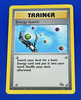 Pokemon Fossil Unlimited 59/62 Energy Search Common Excellent EX