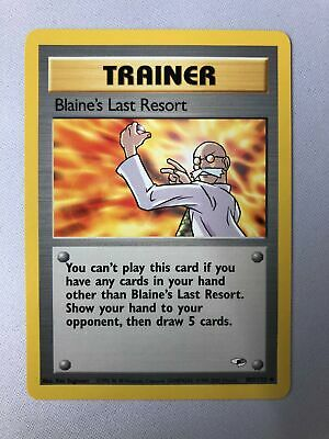 Blaine's Last Resort 105/132 Gym Heroes Uncommon Pokemon Card NM