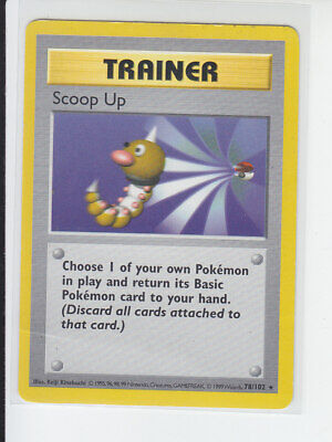 Trainer Scoop Up 78/102 Shadowless Base Set Rare Non-Holo Pokemon