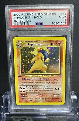 Typhlosion - 1st Edition Holo Pokemon Card. Neo Genesis. # 17/111. Solid PSA 9.