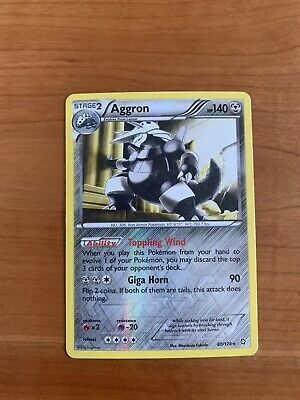 Pokemon - Aggron 80/124 - Rare Reverse Holo - Dragons Exalted - *See Pictures!*