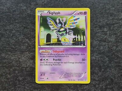 Sigilyph 52/124 Holo Dragons Exalted Pokemon Card Excellent Condition