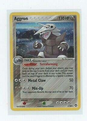 2007 Aggron Holo Ultra Rare Ex Power Keepers Pokemon Card 1/108