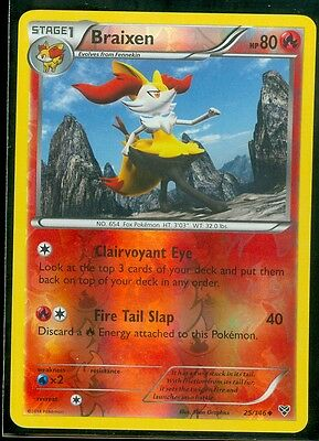 Pokemon BRAIXEN 25/146 - XY Rev Holo - MINT