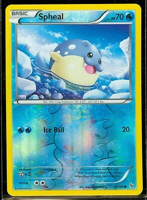 Pokemon SPHEAL 24/106 - XY Flashfire Rev Holo MINT!