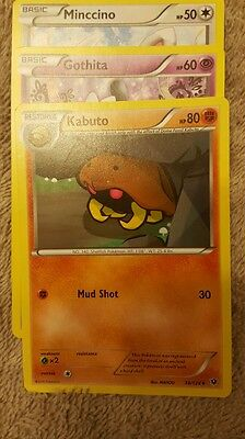 Kabuto, gothita, minccino fates collide Uncommon TCG Pokemon Cards NEAR MINT NEW