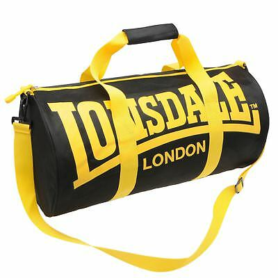 Сумка Lonsdale Barrel Bag Black/Yellow Sports
