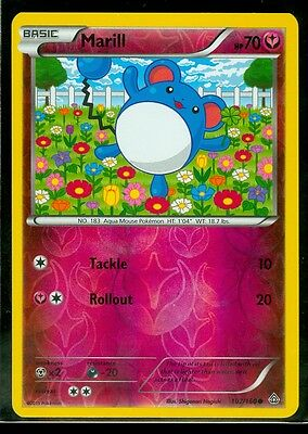 Pokemon MARILL 102/160 - XY Primal Clash Rev Holo - MINT