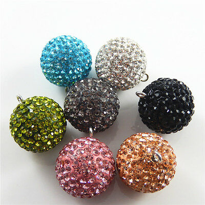 Бисер 2pcs/lot Brass Multi-colors Crystal Charms