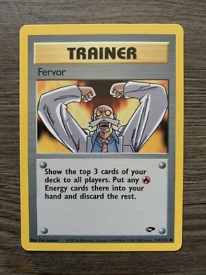 1x Pokemon Trainer Fervor ,  Gym Challenge #124/132  Pokemon Card