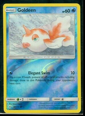 Pokemon GOLDEEN 48/214 Unbroken Bonds Rev Holo - MINT