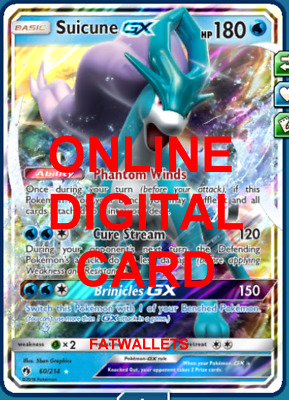 1X Suicune 60/214 Lost Thunder Pokemon TCG Online Digital Card
