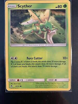 Scyther 3/214 - Common Pokemon Card - Lost Thunder Set (2018) - NM