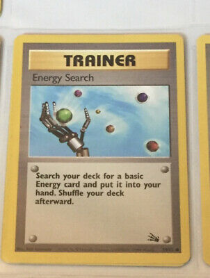 Pokemon Fossil Set 1st Edition Card Trainer Energy Search 59/62 Mint