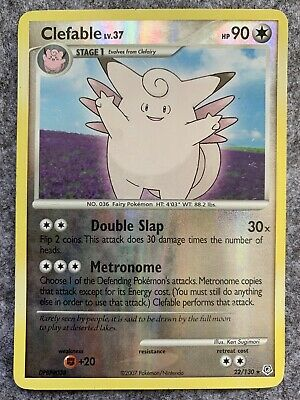 Clefable Holo Rare Reverse 2007 Diamond & Pearl Pokemon Card 22/130