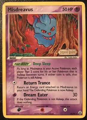 Pokemon EX Legend Maker Misdreavus 40/92 Reverse Holo Played Fast Shipping!