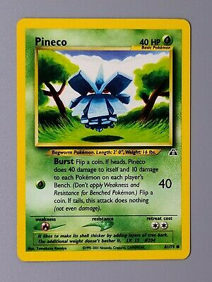 Pineco 61/75 Common Neo Discovery Pokemon
