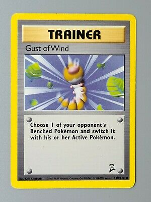 Gust of Wind Trainer 120/130 Common Base Set 2 Pokemon