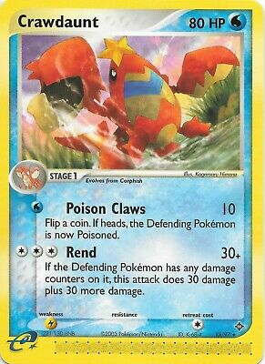 CRAWDAUNT 13/97  EX Dragon Pokemon RARE WOTC Card  NM