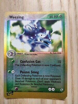 Pokemon Weezing Reverse Holo 24/109 Ex Ruby & Sapphire - LP
