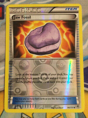 Trainer Jaw Fossil 94/111 - XY Furious Fists Rev Holo - MINT - Pokemon