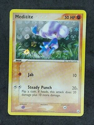 Pokemon Ex Hidden Legends Meditite Holo Near Mint 66/101