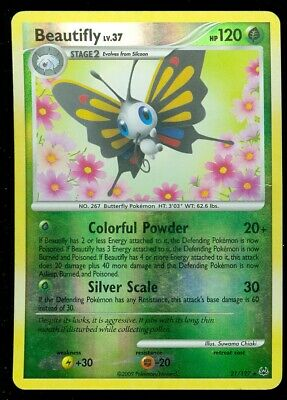 Pokemon BEAUTIFLY 21/127 Platinum - RARE Rev Holo - PLAYED