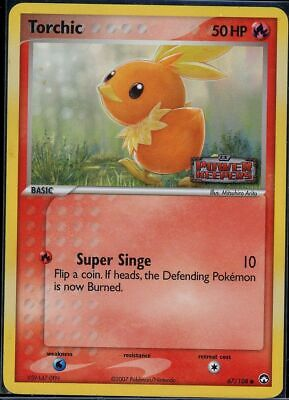 Pokemon 67/108 Torchic Power Keepers Reverse Holo
