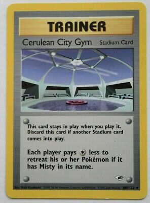 Pokemon Trainer Card - Cerulean City Gym 108/132 - Gym Heroes Unlimited Edition
