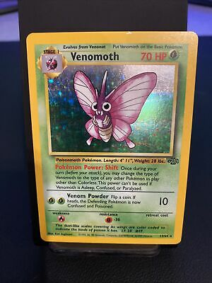 Venomoth Holo 13/64 Jungle Pokemon Vintage wotc