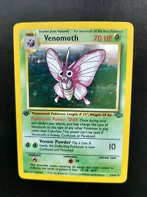 1999 Pokemon 1st Edition Jungle Set Venomoth Holo Rare - 13/64 Great Condition!