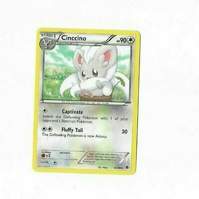 Pokemon Card Cinccino 85/98 Emerging Powers  Excellent To Near Mint