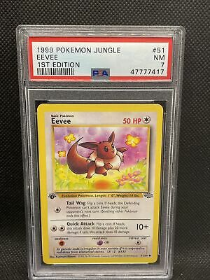 PSA 7 1999 Eevee Jungle 1st Edition #51/64 Pokemon