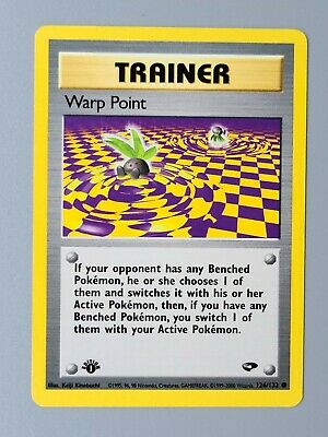 1st Edition Warp Point 126/132 Gym Challenge Pokemon